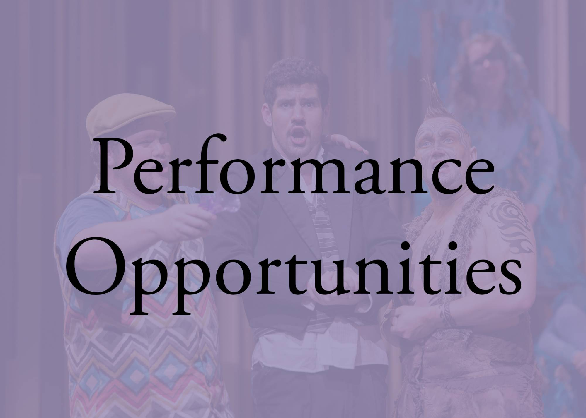 theatre performing opportunities
